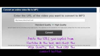 How to Save Youtube MP3's onto your computer.wmv