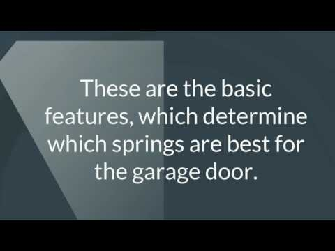 Choose the Right Springs -  Tip | Garage Door Repair Golden Valley