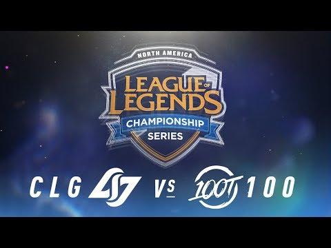 CLG vs. 100 - Week 1 Day 2   NA LCS Spring Split   Counter Logic Gaming  vs. 100 Thieves (2018)