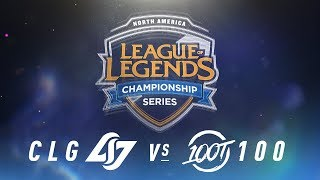 Video CLG vs. 100 - Week 1 Day 2 | NA LCS Spring Split | Counter Logic Gaming  vs. 100 Thieves (2018) download MP3, 3GP, MP4, WEBM, AVI, FLV Juni 2018