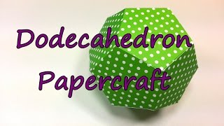 Dodecahedron Tutorial by feelinspiffy (Papercraft)