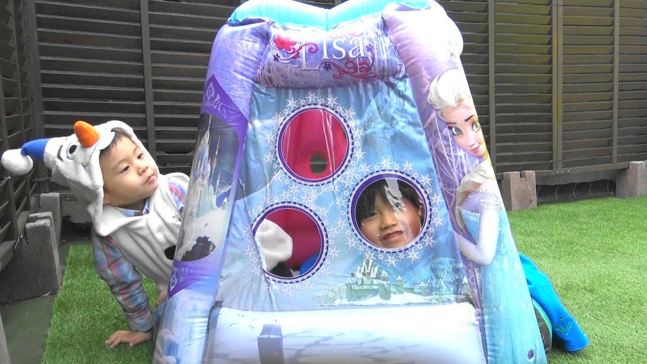 House Giant Ball Pits エルサ アナと雪の女王 プレイランド テントハウス ボールプール こうくんねみちゃん