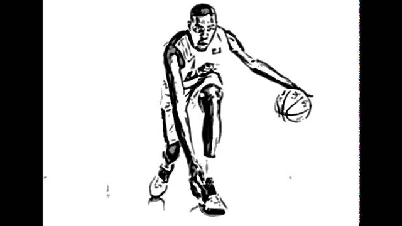 Kevin Durant Best basketball player- drawing line arts