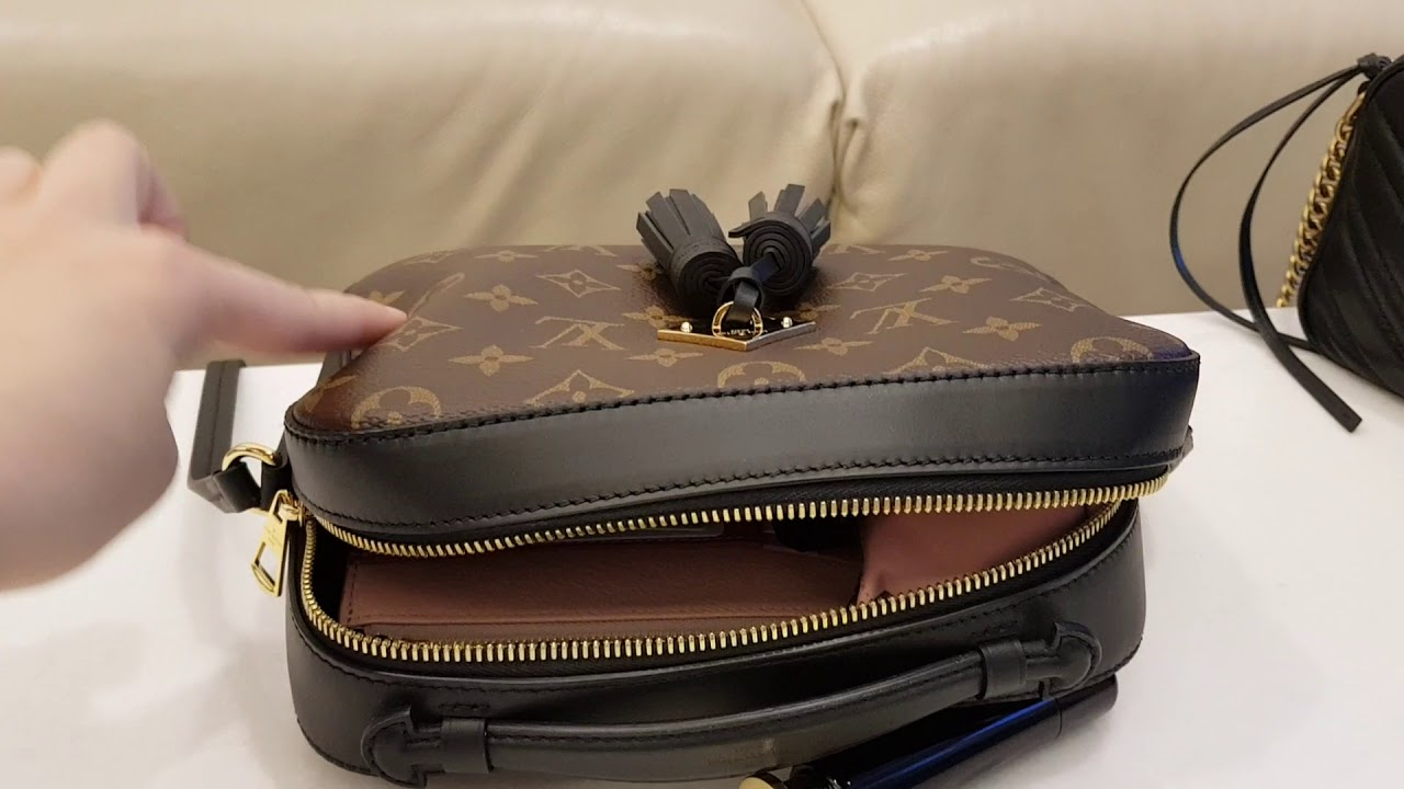 3d1896be7dced5 Comparison😍LV Saintonge VS Gucci Marmont Camera bag😍what fits inside the  bag