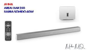 Barra de sonido Auna Areal Bar 350 con bluetooth y USB.