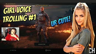 GIRL VOICE TROLLING ON BLACK OPS 4 BLACKOUT BATTLE ROYALE *HILARIOUS REACTION*