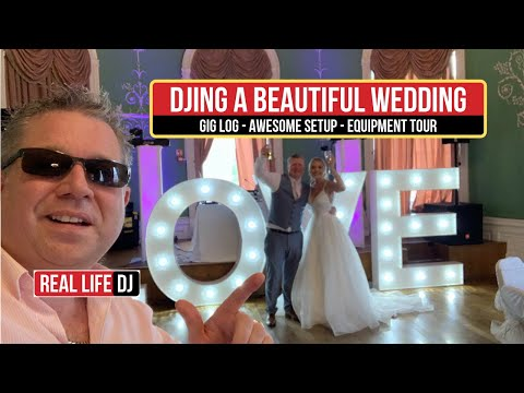 DJ at a Beautiful Wedding Party MUST WATCH NEW WEDDING DJ... Mobile DJ Gig vLog Wedding DJ