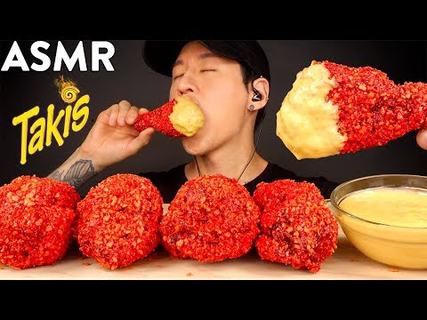 ASMR CHEESY TAKIS FRIED CHICKEN MUKBANG (No Talking) COOKING & EATING SOUNDS | Zach Choi ASMR