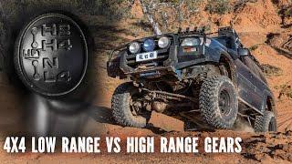 4x4 Low Range and High Range gears