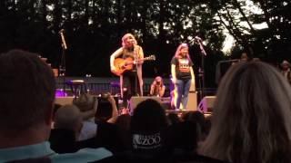 Brandi Carlile & Chloe singing Adele's When We Were Young - Oregon Zoo Portland 7/29/17