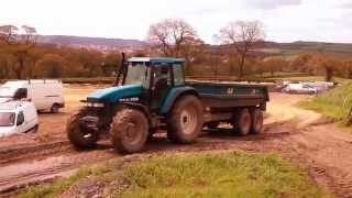 Building A Cow Shed (29) - Infill With New Holland Tm150 And Jcb.