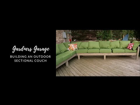 How we made our outdoor sectional couch - DIY sectional