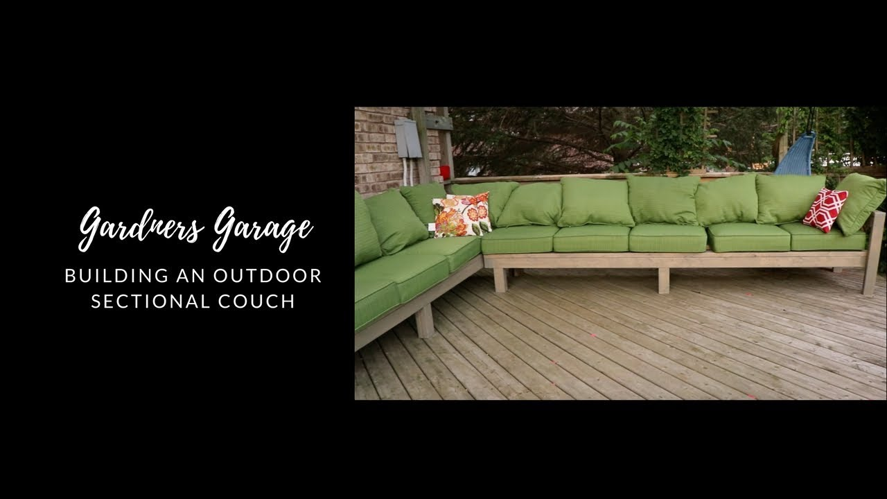 How We Made Our Outdoor Sectional Couch Diy Sectional Youtube