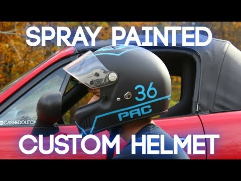 Custom Helmet Painting At Home! (Spray Paint)