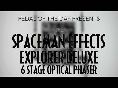 Spaceman Effects Explorer Deluxe 6 Stage Optical Phaser Effects Pedal Demo Video