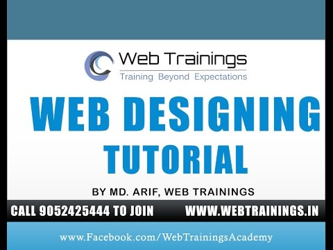 Web Designing Tutorial - Web Designing for Beginners Demo - YouTube