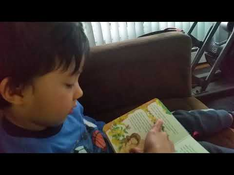 """""""Adam and Eve"""" First Bible Story read aloud by 3 year old Toddler"""