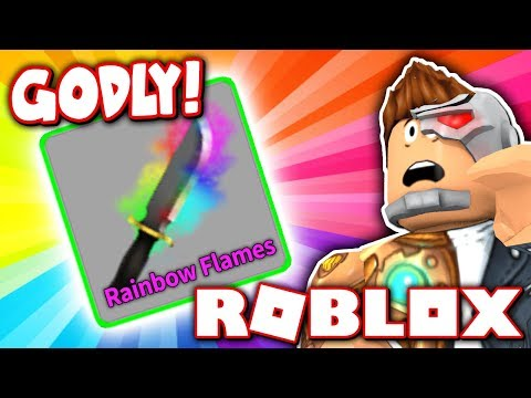 CRAFTING THE GODLY RAINBOW FLAMES EFFECT!! (Roblox Murder Mystery X)