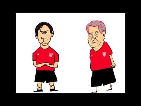 Mr Roy and Gary Neville - England v Slovakia