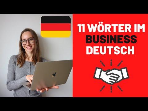 WORTSCHATZ: 11 wichtigste Wörter, die Deutsche BEI DER ARBEIT nutzen
