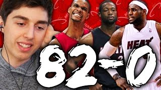82-0 CHALLENGE - 2012 MIAMI HEAT WITH LEBRON JAMES! NBA 2K16 MY LEAGUE