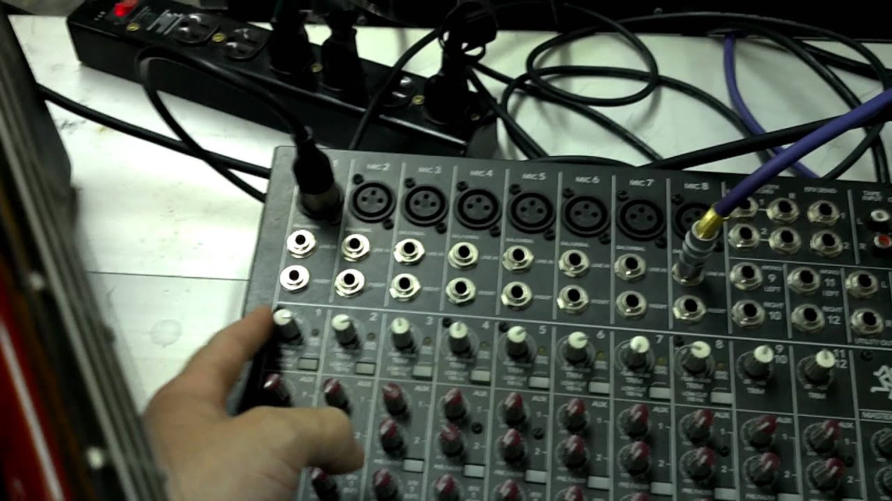 Electric Guitar Into Sound Board Youtube Using Live Wire Cable Diagram