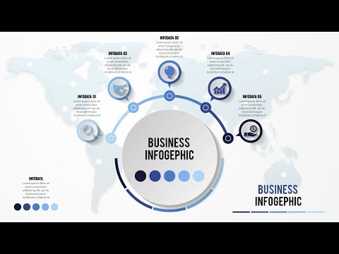 How to make creative business infographic design Illustrator tutorial