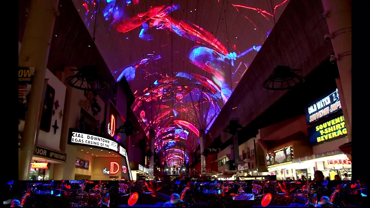 Linkin Park Light Show At Fremont Street Experience Youtube