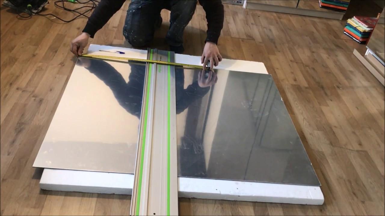Comment Couper Une Plaque De Dibond En Aluminium Composite Youtube