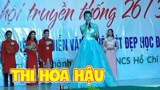 Ngọc Hân Thi Hoa Hậu Nữ Sinh Thanh Lịch - Team Con Nit Đi Cổ Vũ