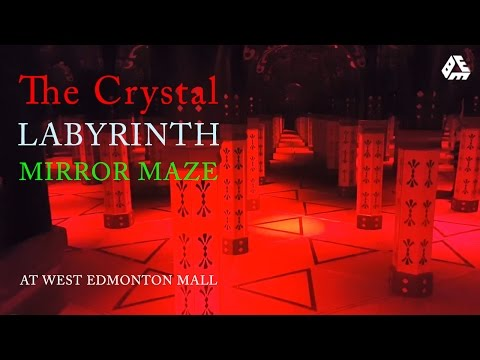 Crystal Labyrinth - Inside the Mirror Maze in West Edmonton Mall, Alberta, Canada