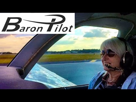 Mom's first flight in a Beech Baron. Can you count all of her questions?