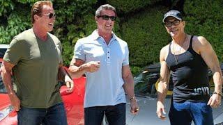 Sylvester Stallone [1946], Arnold Schwarzenegger [1947] And Jean-Claude Van Damme [1960] Training