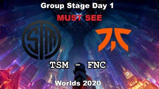 TSM vs FNC Must See Group Day 1 WORLDS 2020 Чемпионат Мира Team SoloMid vs Fnatic