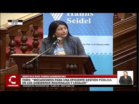 Congreso TV: Denisse Miralles de ProInversión en el Congreso de la República | ProInversión