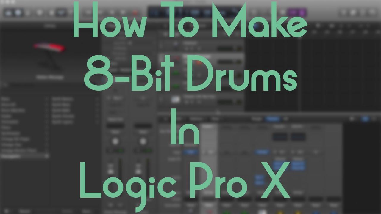Logic Pro X - How To Make 8 Bit Drums