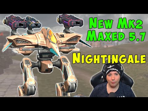 New [5.7] Robot NIGHTINGALE Mk2 Maxed Air Support War Robots Gameplay WR