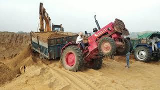 mhindra 415 ट्रैक्टर न्यू ट्रैक्टर ऐसा फसा damfer खाली करना पड़ा