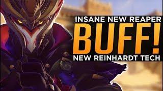 Overwatch: HUGE Reaper BUFF! - NEW Reinhardt Tech!