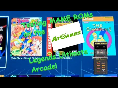 AtGames Legends Ultimate Arcade - Playing MAME ROMS!