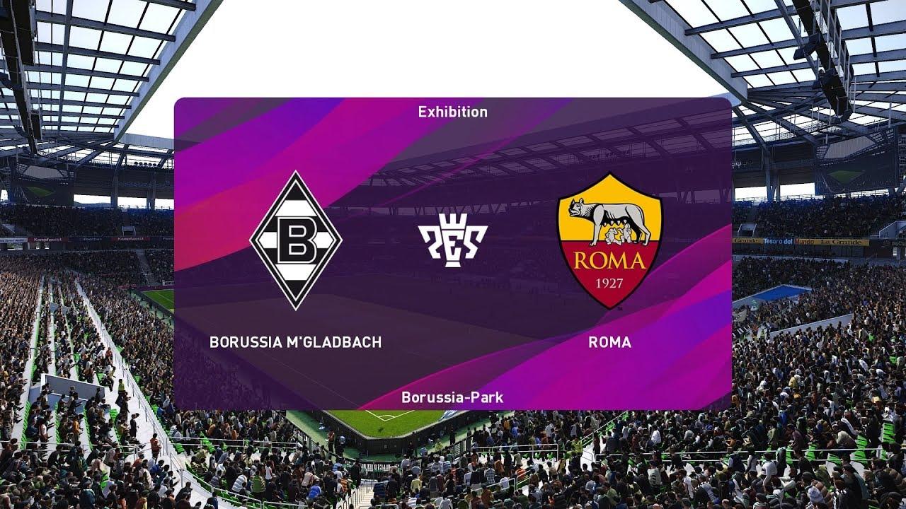 Pes  Borussia Monchengladbach Vs As Roma Uefa Europa