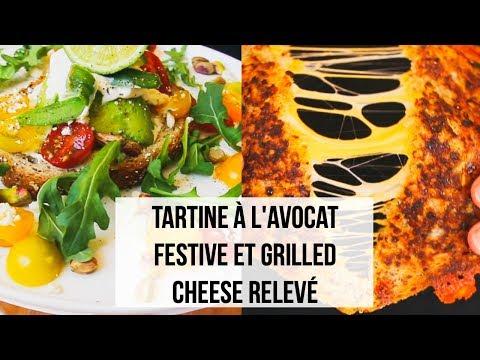 tartine-À-l'avocat-festive-et-grilled-cheese-relevÉ---recettes-faciles