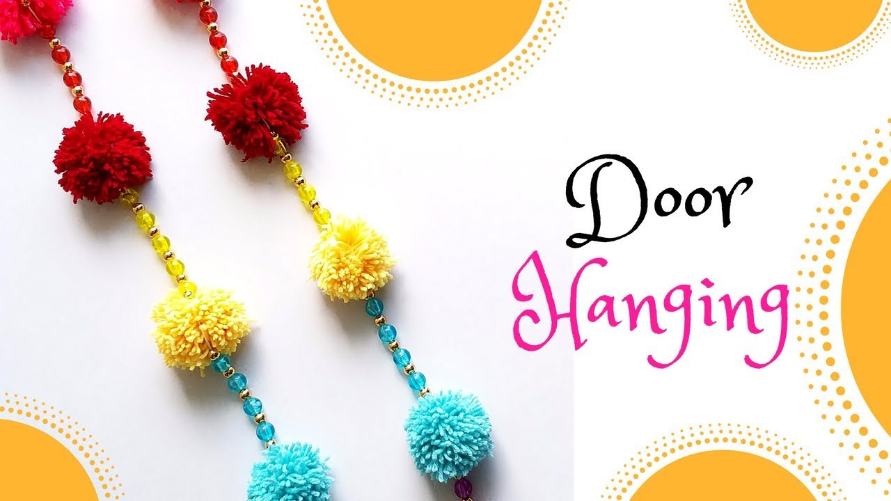 How to make DIY bhandhanwar | Toran | Door Hanging for Diwali ...