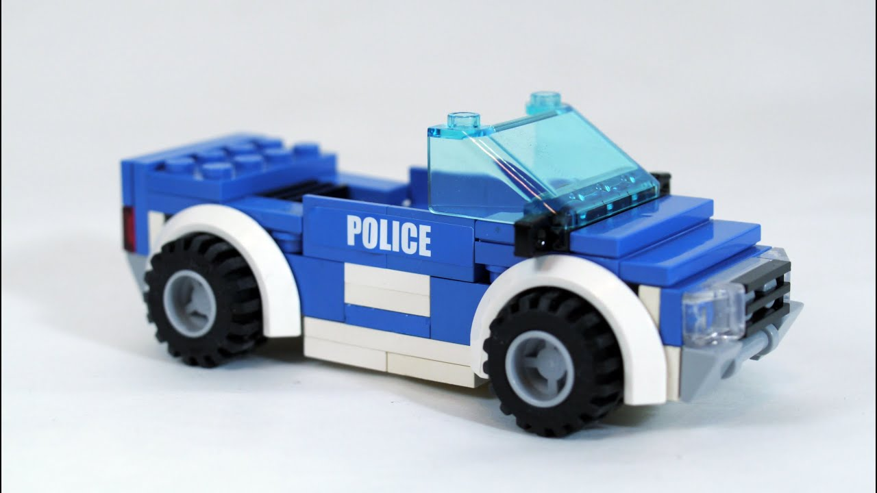 how to build lego police car youtube. Black Bedroom Furniture Sets. Home Design Ideas