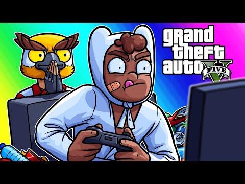 GTA5 Funny Moments - Basically's Intervention and Noisy Cricket Car Battle!