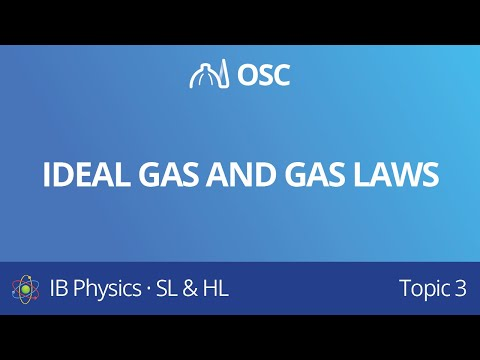 [IB Physics SL + HL Topic 3 Revision] 3.4 Ideal Gas And Gas Laws