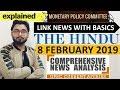 8 FEBRUARY 2019 The HINDU NEWSPAPER ANALYSIS TODAY in Hindi (हिंदी में) - News Current Affairs  IQ