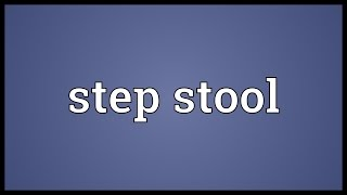 Step Stool Meaning