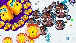 Agar io Epic STONE AGES Skin Painful Trick Split Solo Boss Agario Mobile Gameplay!
