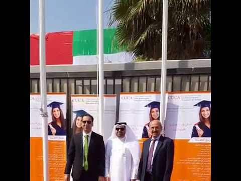Mr. AbdulAziz Al Jasmi, CUCA Board Member hoisted the UAE flag at the College campus